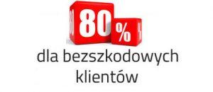 80 % zniżki do OC